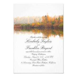 Carte Mariage élégant et simple d'automne rustique