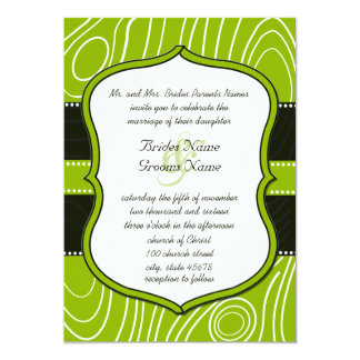 Carte Mariage en bois vintage noir vert pomme de grain