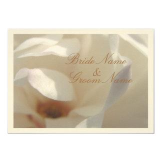 Carte Mariage en ivoire romantique de magnolia