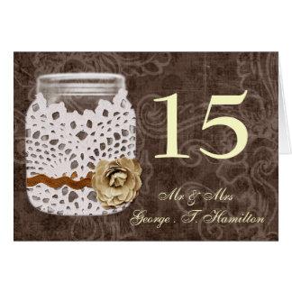 Carte Mariage enveloppé par dentelle rustique de pot de