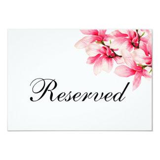 Carte Mariage floral de magnolia rose romantique réservé
