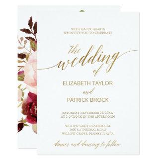 Carte Mariage floral élégant de support de la