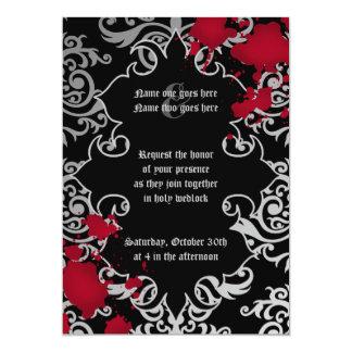 Carte Mariage gothique de Halloween de vampire