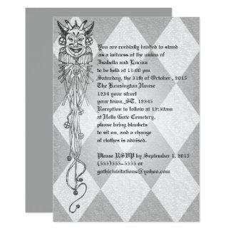 Carte Mariage médiéval de Goth de diamants de farceur