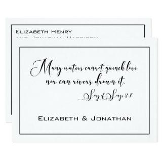 Carte Mariage noir et blanc élégant élégant