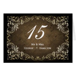 Carte Mariage ornemental majestueux rustique de Brown et