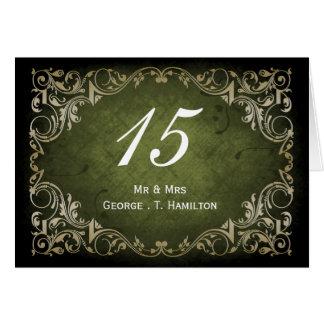 Carte Mariage ornemental majestueux rustique de vert et