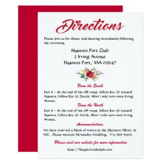 Carte Mariage rouge floral de Bourgogne de fleurs de
