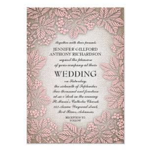 invitations faire part cartes mariage rustique de toile de jute. Black Bedroom Furniture Sets. Home Design Ideas