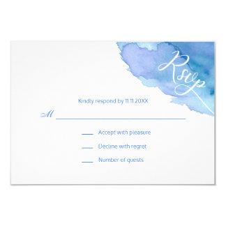 Carte Mariage turquoise bleu de la turquoise RSVP
