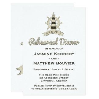 Carte Marin bronzage de phare de dîner nautique de