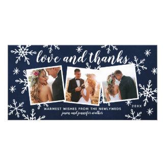 Carte Marine de Merci de mariage de vacances d'amour et