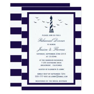 Carte Marine et dîner blanc de répétition de phare de