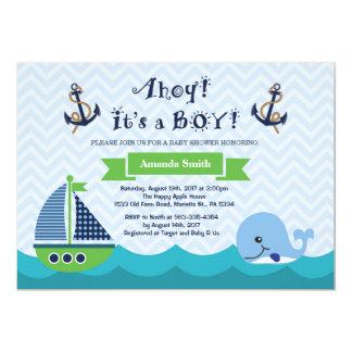 Carte Marine nautique Gree d'invitation de baby shower