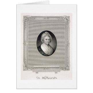 Carte Martha Washington, gravé par James Barton Longac