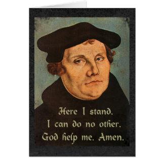 Carte Martin Luther ici je tiens la citation religieuse