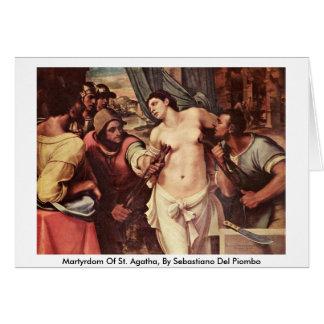 Carte Martyre de St Agatha, par Sebastiano del Piombo