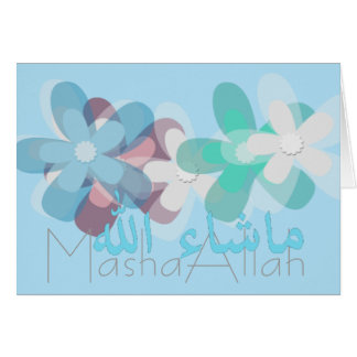Carte Masha-Allah islamique
