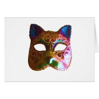 Carte Masque coloré de chat