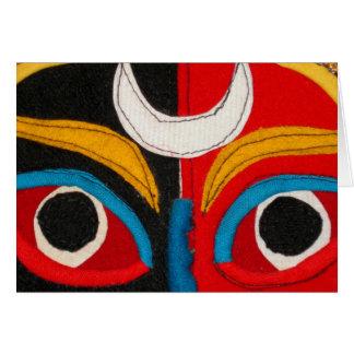 Carte Masque tibétain