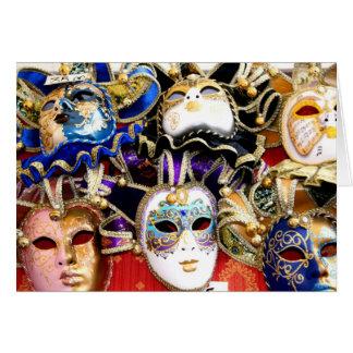 Carte Masques de carnaval