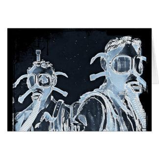 Carte Masques de gaz négatifs bleus d'image