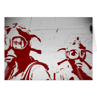 Carte Masques de gaz rouges sang