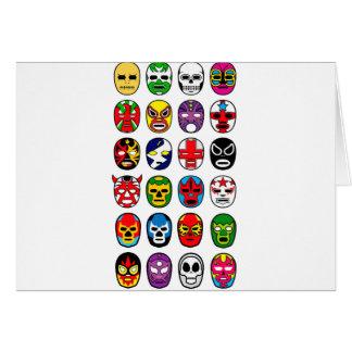 Carte Masques de lutte mexicains de Lucha Libre Luchador