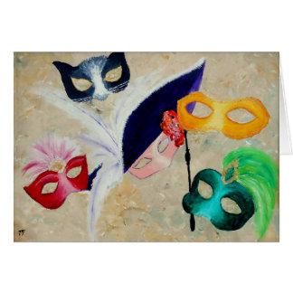 Carte Masques vénitiens