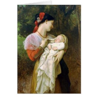 Carte maternelle du jour de mère d'admiration