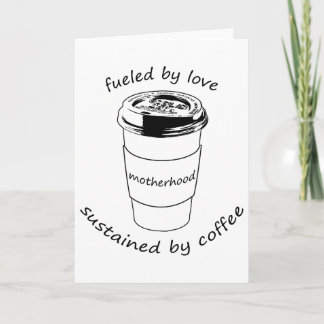 Maternité (carte pour notes vide) : Amour et café