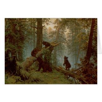 Carte Matin dans une forêt de pin, 1889