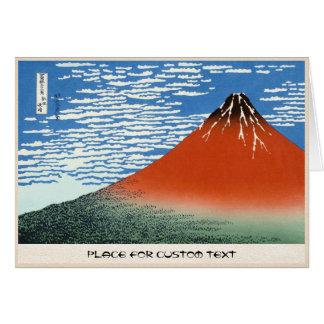 Carte Matin du sud rouge d'espace libre de vent de Fuji