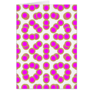 Carte Matrice de points rose EXOTIQUE : Bijou de motif