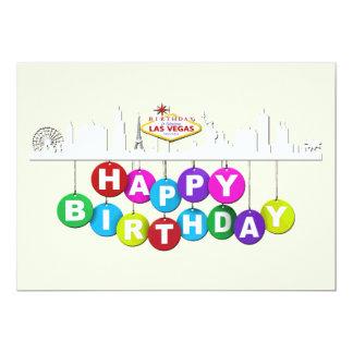 """Carte Matte 5"""" d'anniversaire de Las Vegas x 7"""","""