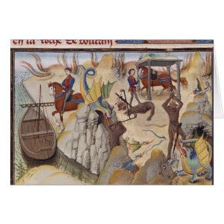 Carte Maugis combattant le serpent