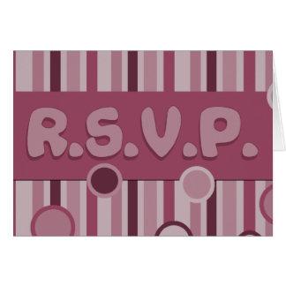 Carte Mauve de RSVP