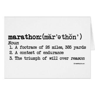 Carte Meilleur de définition de marathon de la chance