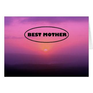 Carte Meilleur lever de soleil rose de mère