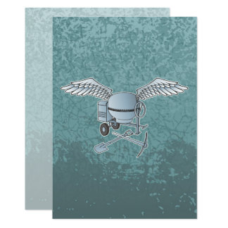 Carte Mélangeur concret bleu-gris