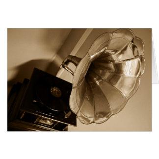Carte Mélomanes antiques de cadeaux de phonographe de