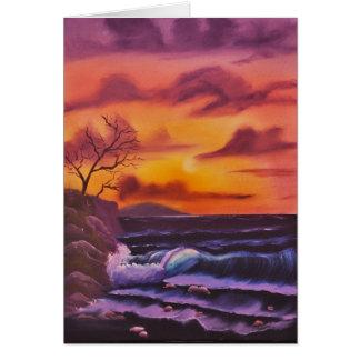 Carte Même des vagues, une huile originale par Linda