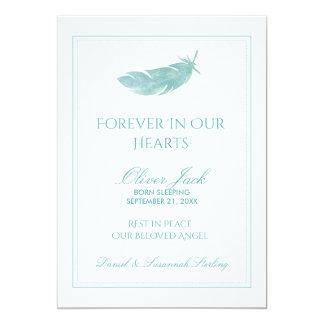 Carte Mémorial de bébé pour toujours dans notre plume