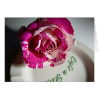 Carte menthe rose de cafe de flore