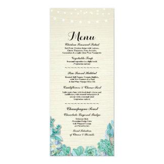 Carte Menthe rustique de Succulents de réception de