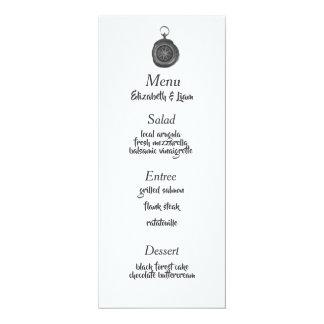 Carte Menu de mariage de boussole