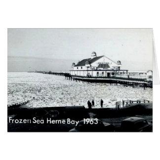 Carte Mer congelée à la baie de Herne - Kent -1963