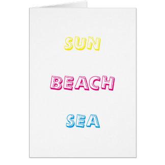Carte Mer de plage de Sun