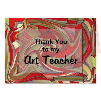 Carte Merci à mon professeur d'art