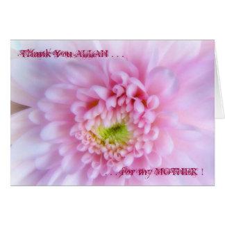 Carte Merci ALLAH pour ma MÈRE !